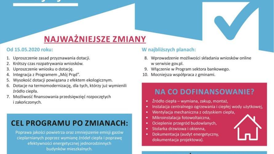 """UWAGA! Nowe zasady składania wniosków w ramach programu """"Czyste Powietrze"""""""