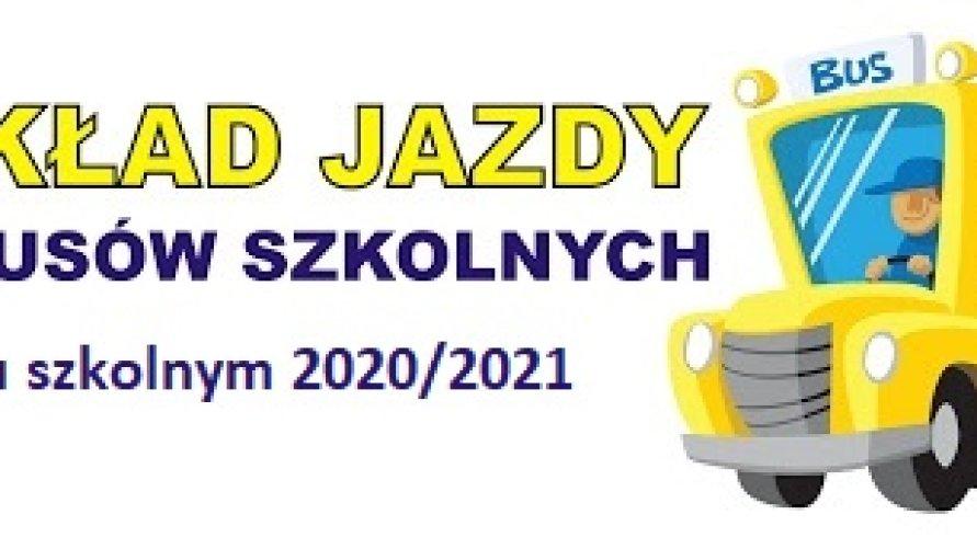 Rozkład jazdy autobusów szkolnych w roku szkolnym 2020/2021