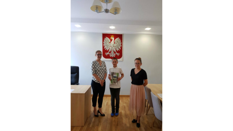 Uczeń Szymon Fornalski odebrał nagrodę za szczególne osiągnięcia w nauce